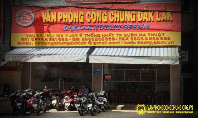 Văn phòng công chứng Đắk Lắk