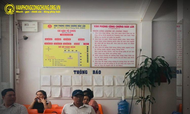 Dịch vụ công chứng tại Đắk Lắk