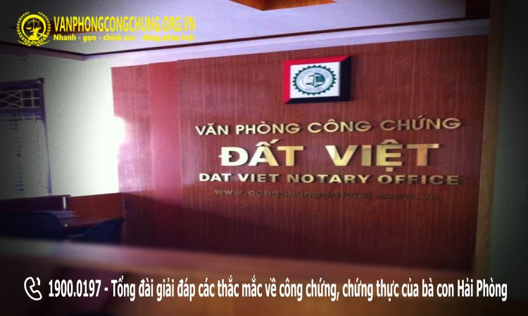 Văn phòng công chứng Đất Việt